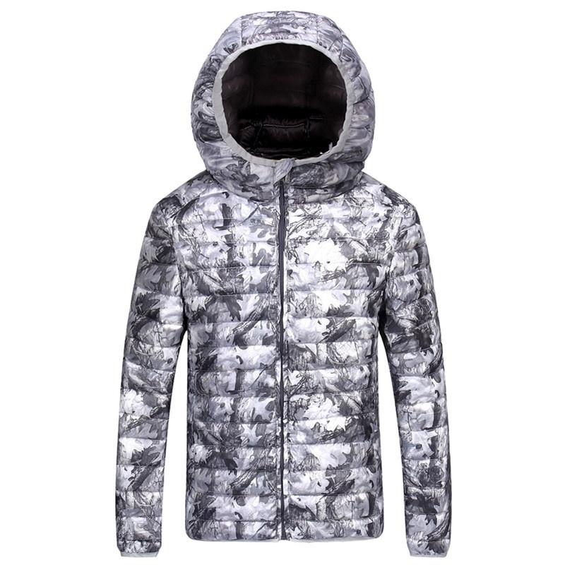 2018 Winter New Thin Down Jacket Short Section Men's Hood Down Jacket Men's Slim
