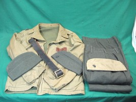 Named WWII USMC Field Jacket + Pants + Belt + Caps Sergent Mc Williams - $399.95