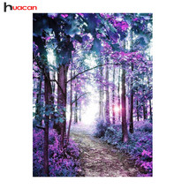 HUACAN Diamond Painting Landscape Diamond Embroidery Full Round Diy Kit ... - $67.00