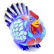 Handmade Alebrijes Oaxacan Wood Carved Painted Chicken Hen Rooster Figurine image 4