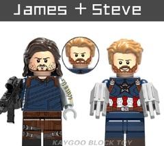 Superhero Compatible Legoinglys James + Steve Building Block Toy - $1.75