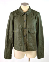 HEI HEI Anthropologie Army Green Military Industrial Crop Swing Jacket B... - $29.69