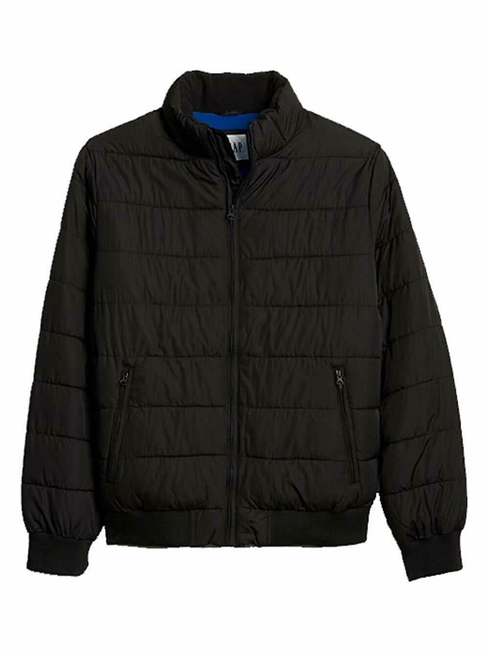Primary image for Gap Mens Solid Black Full Zip Warmest Puffer Jacket Coat Sz L Large 7613-1M