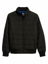 Gap Mens Solid Black Full Zip Warmest Puffer Jacket Coat Sz L Large 7613-1M - $49.49