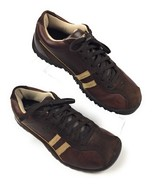 Skechers SN 45410 Brown Tan Leather & Suede Walking Shoes Sneakers Women... - $15.79