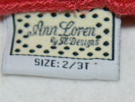 ann loren by Je Designs Red Long Pants 100 percent Cotton Size 2 to 3T image 4