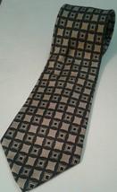 Brooks Brothers Makers - XL All Silk Handmade in USA Geometric Gold Green Tie  - $7.46