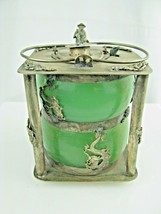 Vintage Chinese wine warming pot Metal & Glass signed - $193.05