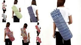 Indian Kantha Quilted Yoga Pilates Mat Cotton Bag Carrier Case Adjustabl... - $519,24 MXN