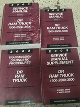 2003 DODGE RAM TRUCK 1500 2500 3500 Service Shop Repair Manual Set OEM +... - $188.05