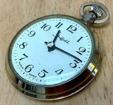 Vintage Sheffield Austria Mens Gold Tone Hand-Wind Mechanical Pocket Wat... - $36.09