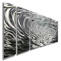 Statements2000 Large Silver Modern Metallic Wall Sculpture With Rain-Dro... - $275.70