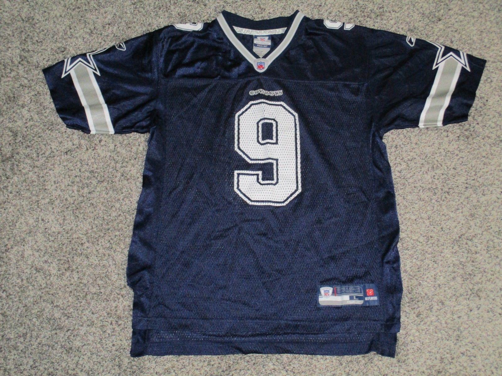 e6b06cba449 Tony Romo Dallas Cowboys Jersey by Reebok, Youth Large (14-16),