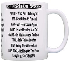 Retirement Gag Gift Senior's Texting Code Office Humor Coworker Gag Gift... - $16.50