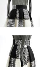 RED PLAID Women Midi Skirt Autumn Classic Plus Size Flannel Long Plaid Skirts image 15