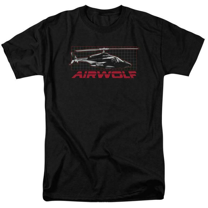 Airwolf helicopter t-shirt retro 80's action TV series adult graphic tee NBC501