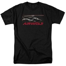 Airwolf helicopter t-shirt retro 80's action TV series adult graphic tee NBC501 image 1