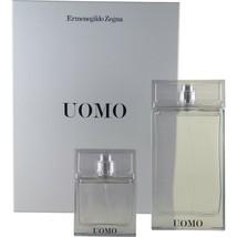 Ermenegildo Zegna Uomo 2 Piece Gift Set Eau De Toilette Spray 100 ML/3.4 Oz. Nib - $73.76