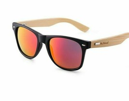 Bamboo Casual Sunglasses Natural Frames for Unisex UV400 Lens Fashion Ey... - $15.88+