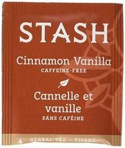 Stash Tea Cinnamon Vanilla Herbal Tea 100 Count Tea Bags in Foil packagi... - $18.71