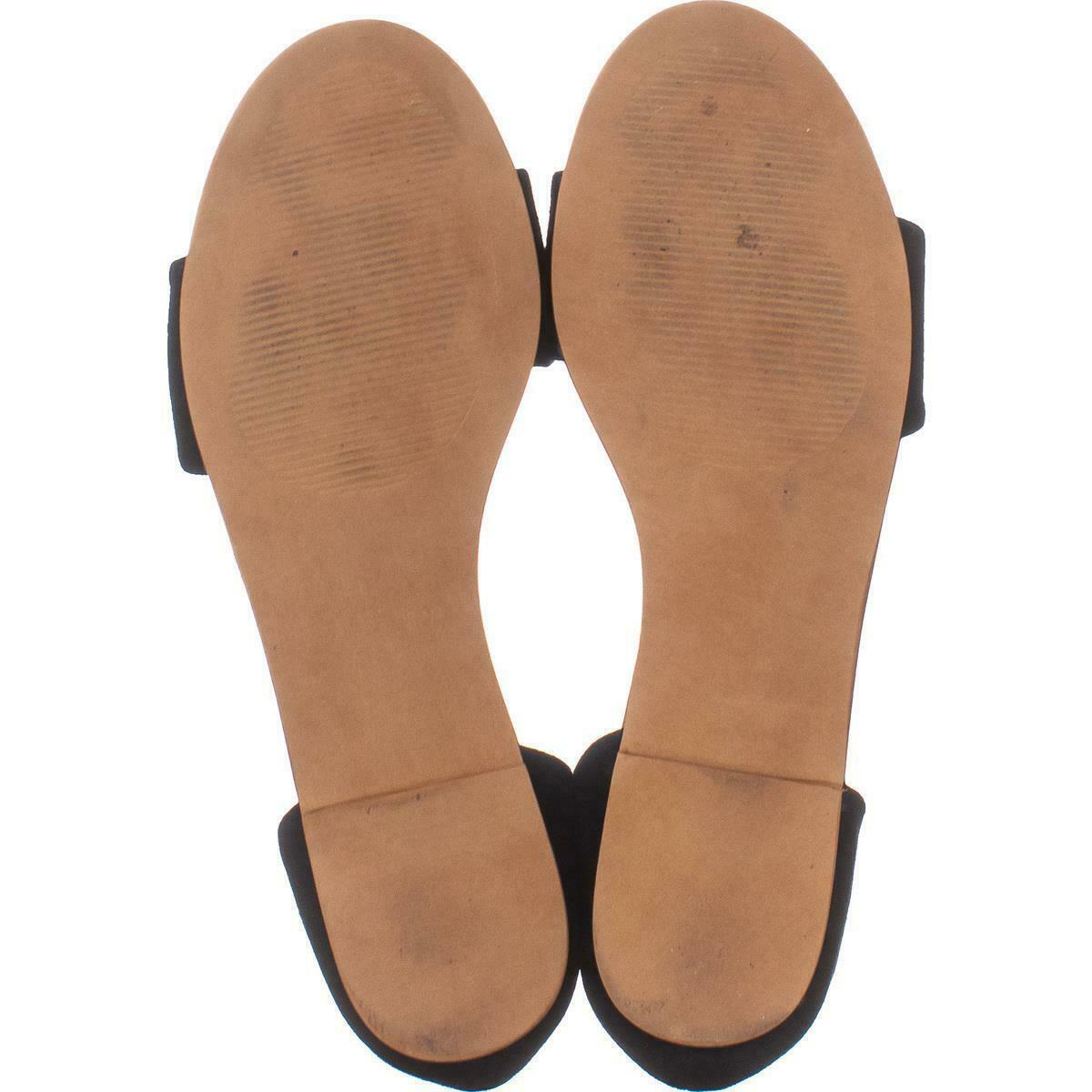 Steve Madden Corey Slip On Flat Sandals 271, Black Suede, 6 US image 6