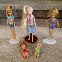 LOT of 5  Dressed Barbie Kids Size Dolls & Sister FAST SHIPPING EUC - $25.96