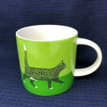 Wild About Words Dominque Yaritzas Enesco Green Cat Coffee Mug Tea Cup - $18.04