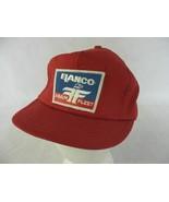 Elanco Farm Fleet Vintage Red Snapback Trucker Farmer Hat Cap - $14.84