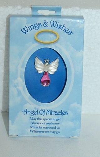 DM Merchandising Wings Wishes Miracle Angel White Wing Pink Body Rhinestone