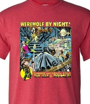 Werewolf by Night T Shirt Legion of Monsters Vintage 1970s Marvel Comics red tee image 2