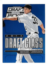 An item in the Sports Mem, Cards & Fan Shop category: 2013 Michael Lorenzen Panini Prizm Draft Picks Rookie Draft Class Blue Prizm /75
