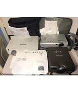 Lot 4 Projector NEC NP115 Proxima UltraLight X540 Panasonic PT-VX400U PT... - $173.25