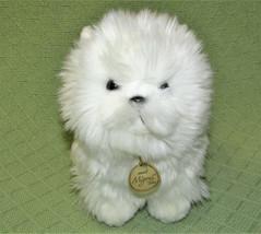 "Aurora Miyoni Tots Pomeranian White Puppy Dog Pompom Stuffed Animal 8"" Plush - $14.85"