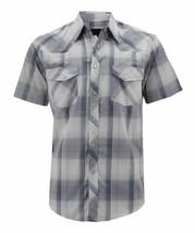 Men's Western Cowboy Pearl Snap Short Sleeve Cotton Rodeo Shirt w/ Defect 2XL
