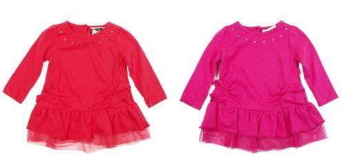 Infant Carter's Baby Girl Ruffled Shirt Long Sleeve Tunic Top Watch the Wear