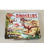 Melissa & Doug 48 Piece Dinosaur FLOOR PUZZLE Large Pieces 2x3 Feet Ages... - $6.92