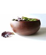 Vintage GOODWOOD Genuine Teak Thailand Wood Serving Bowl Hand Carved MOD... - $28.90