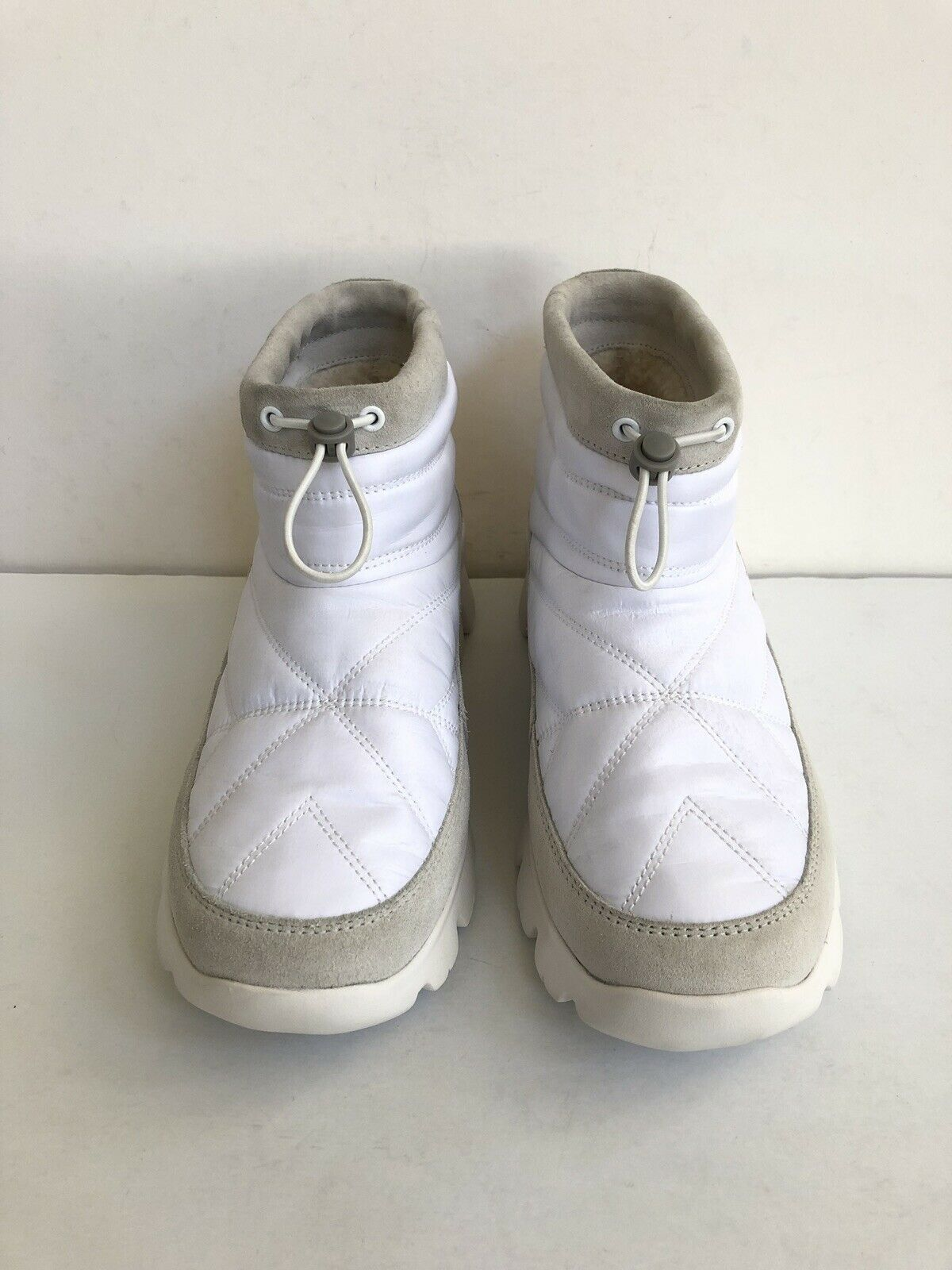 UGG CENTARA WHITE WATERPROOF ANKLE QUILTED SNEAKER SHOE US 6.5 / EU 37.5 /UK 4.5 image 3