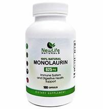 NewLife Naturals Monolaurin Dietary Supplement: 625mg Monolaurin Lauric ... - $18.28