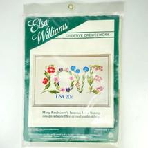 "Vtg Elsa Williams Crewel Needlepoint Kit Mary Faulconer's Love Stamp 17""... - $44.29"