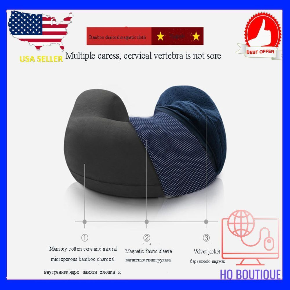 Hot Soft U Shaped support Neck memory foam pillow for travel made bamboo fiber