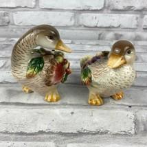 Fitz & Floyd Classics Autumn Splendor Ducks Salt and Pepper Shakers  - $27.08
