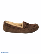 UGG Women's Dakota Brown 5612 Slip On House Shoes Size 7 Comfort Shoes Sheepskin - $33.20