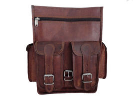 "New 37"" Laptop Handmade Genuine Rustic Soft Leather Unisex Travel Backpa... - $60.25"