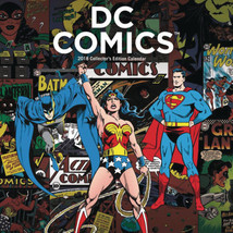 DC Comics Special Edition16 Month 2018 Wall Calendar w/ Bonus Posters NE... - $19.34