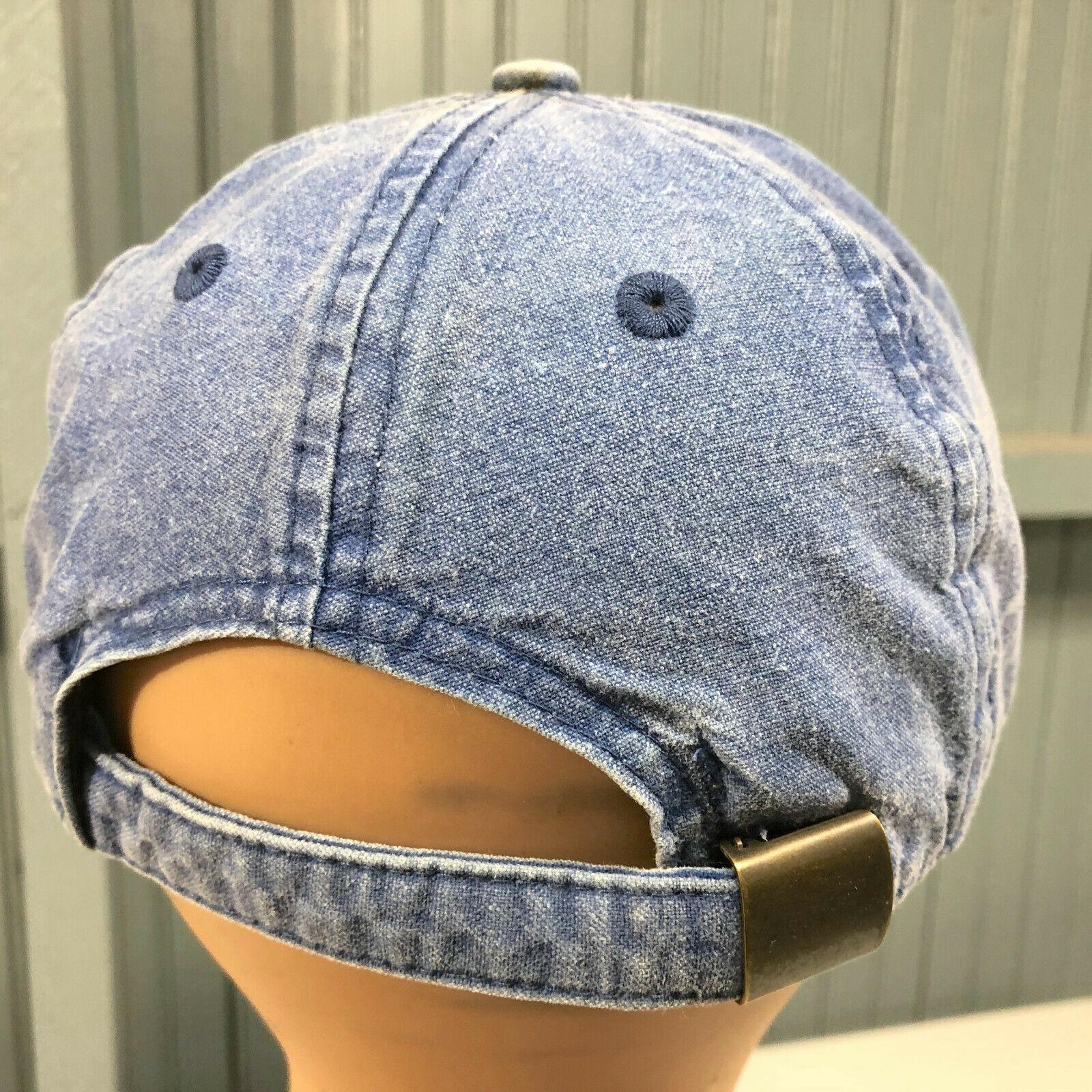 Columbia Sportswear Denim Strapback Retro Distressed Baseball Cap Hat