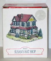 MIB 1997 LIBERTY FALLS SUSAN'S HAT SHOP AH127 Americana Collection Village - $11.88