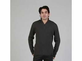 Calvin Klein Mens Half Zip Sweater Dark Gray Medium - $24.74