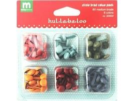 Making Memories Hul-la-ba-loo Circle Brad Value Pack, 90 Medium Brads