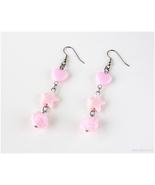 Pastel Pink Fairy Kei Earrings, Sweet Lolita, Jfashion, Gatumi Jewelry - $13.00
